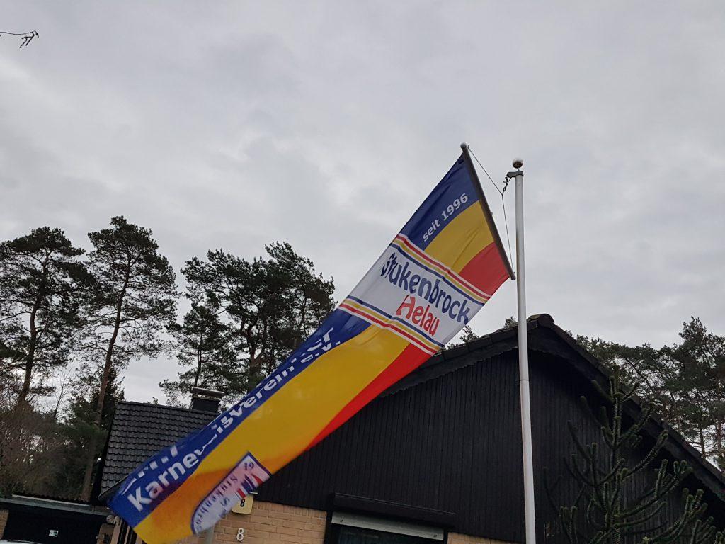 Fahne Karnevalverein Stukenbrock hellau